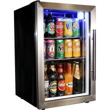 Schmick Tropical Glass Door Mini Bar Fridge 72 Cans Left Hinged - EC68L-SSH